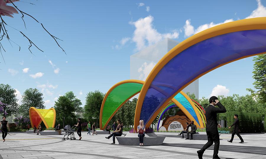 华埠彩虹街头公园
