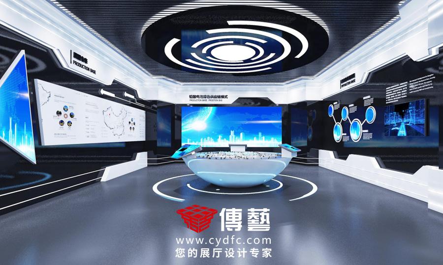 超威电池回收 公司展厅设计
