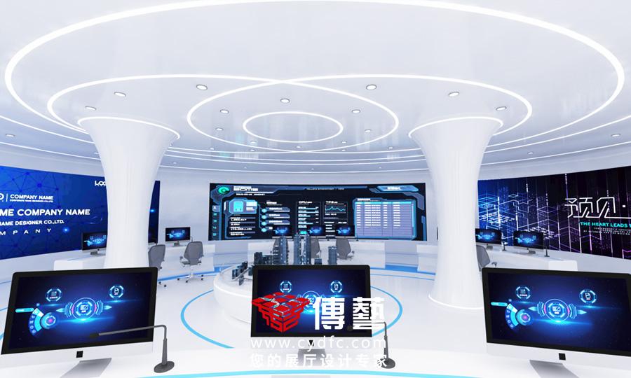 和利时数字驾驶舱展厅设计